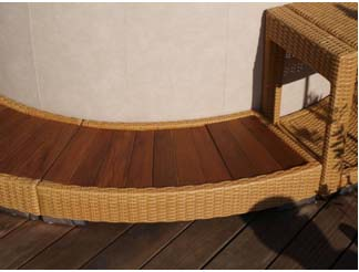 Softub Umrandung Poly-Rattan Honey